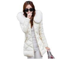 Women S Winter Jackets And Coats 2017 Women Parks Thick Warm Faux Fur Collar Hooded Jacket