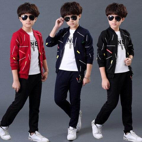 conjunto mola menino 2019 novas criancas coreanas meninos roupas camisola esportes 3 pecas