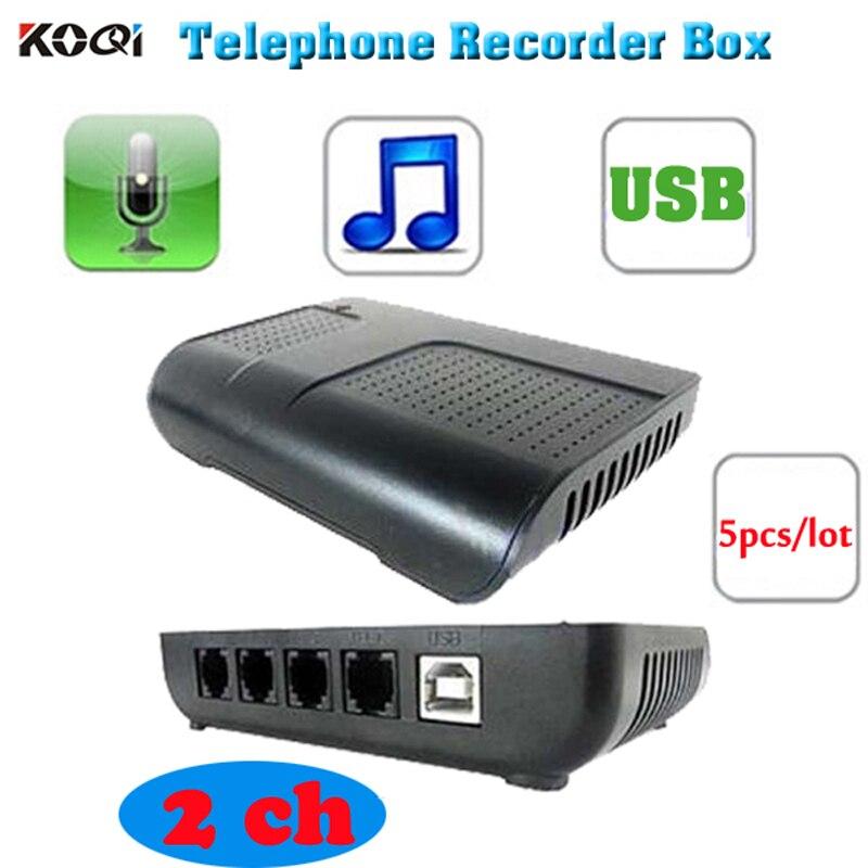 5PCS 2CH PC USB telephone recorder