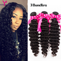 Brazilian Virgin Hair 7a Brazilian Deep Wave Cheap Brazilian Hair 3 Weave Bundles Natural Curly Weave Human Hair Extensions SOFT