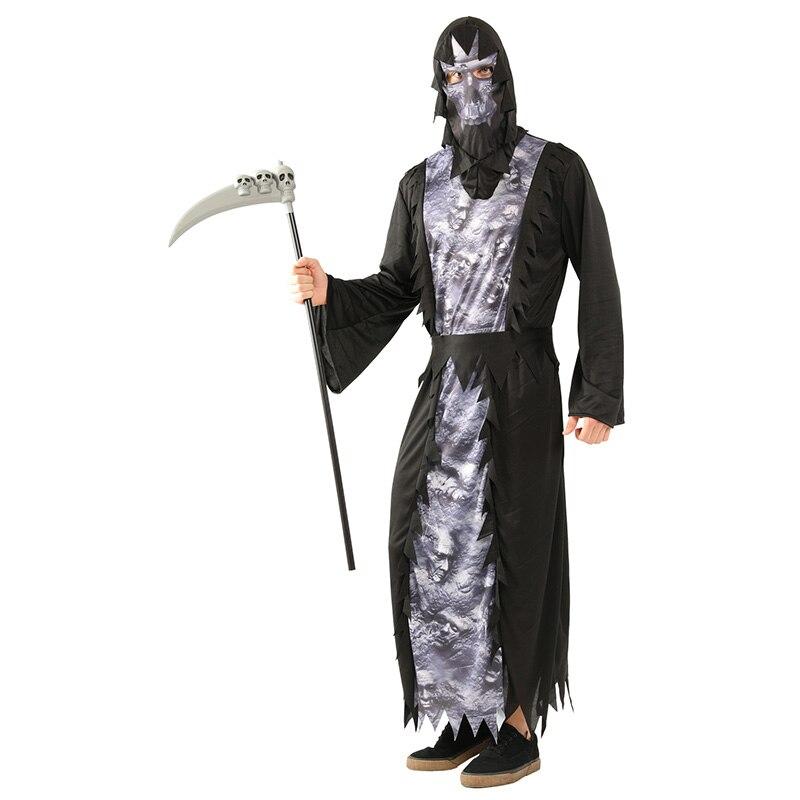 HUIHONSHE Hot Halloween Costumes Skull Skeleton Monster Demon Ghost Scary Costume Clothes Robe for Adult Men