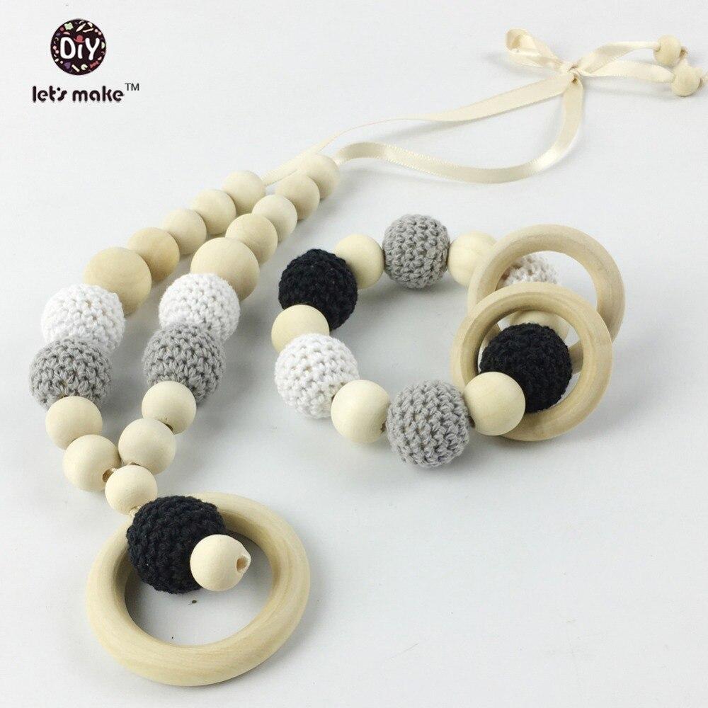 Lets make 2pc/lot teether juniper nursing pendant Nursing Crochet Teething Breastfeeding necklace -Gift For Babywearing Moms