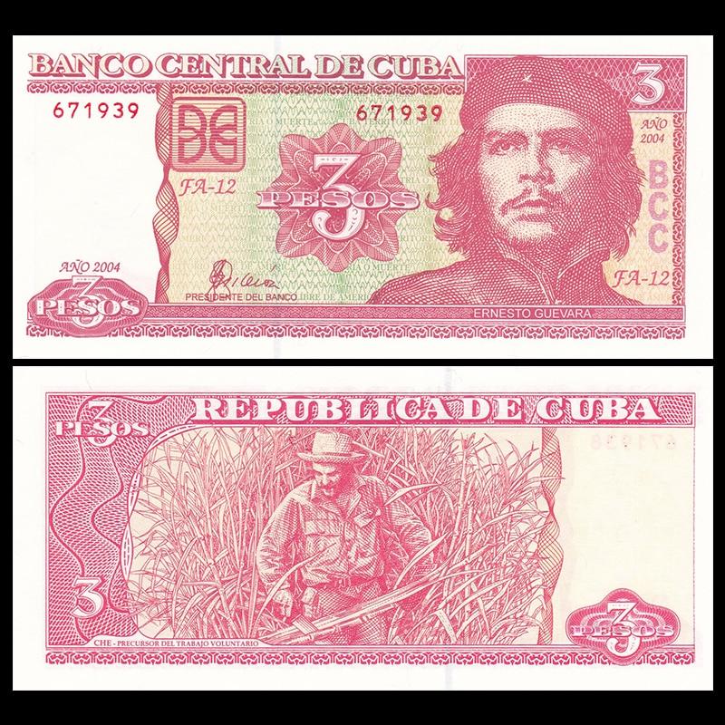 Cuba 3 Pesos, 1984, P-107, Collectibles, UNC