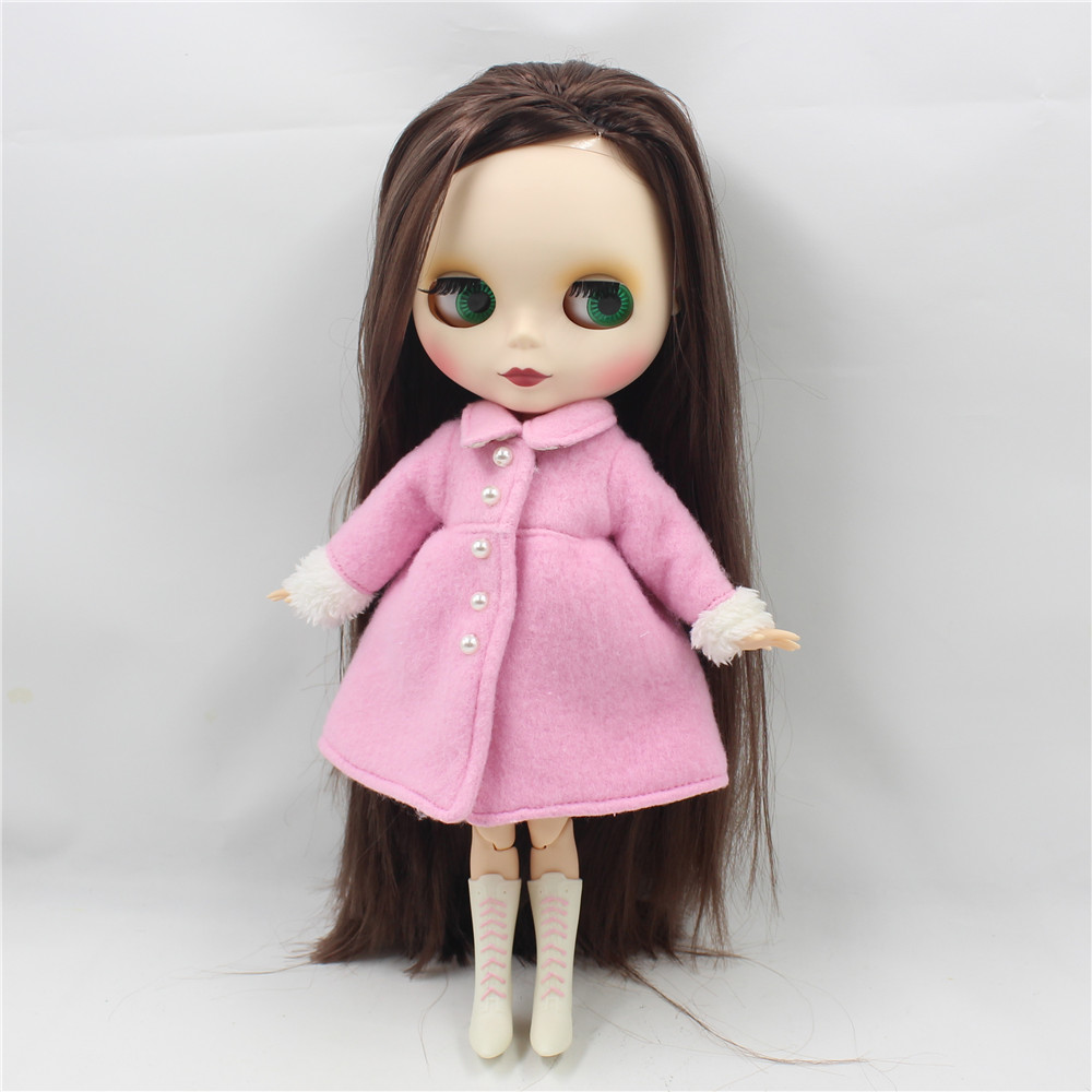 Neo Blythe Doll with Brown Hair, White Skin, Matte Face & Jointed Body 5