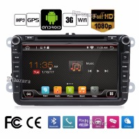 8 Inch Quad Core Pure Android 2 Din Car DVD For VW JETTA Tiguan Passat B6Touran