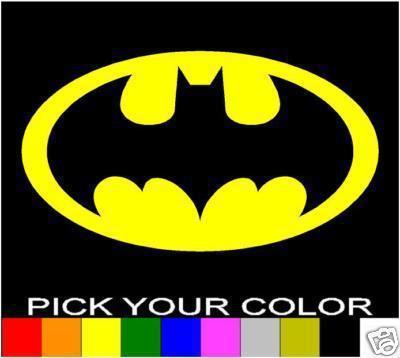 Aufkleber & Sticker Film-fanartikel Batman Logo Sticker Aufkleber