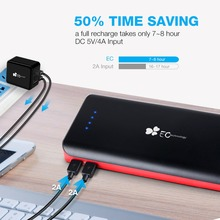 22400mah Power Bank 2 USB Input Fast Charger 3 USB Outputs Portable Powerbank Universal External Battery Charger