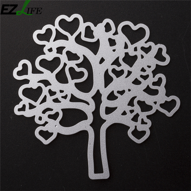 Aliexpress Buy Heart Tree Cutting Dies Nouveau Template