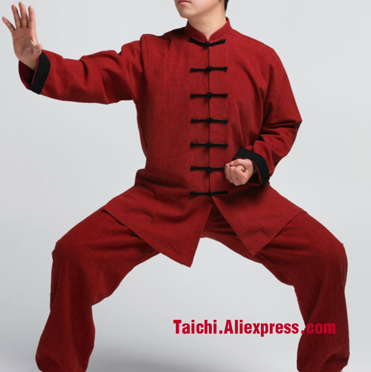 New Male & Female Handmade Linen Tai Chi Uniform Wushu, Kung Fu,martial art, Jacket+Pants painted handmade linen tai chi uniform taijiquan female clothing summer short sleeved wushu kung fu jacket pants