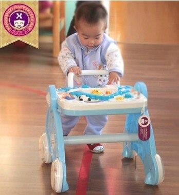 Многофункциональный ходунки нажать ходок малыш коляска