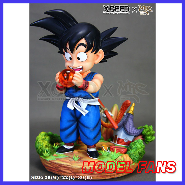 MODEL FANS Dragon Ball Z MRC 30cm goku and four star dragon ball GK resin statue contain led light figure toy for Collection model fans in stock dragon ball z mrc 30cm son gohan practice gk resin statue figure toy for collection