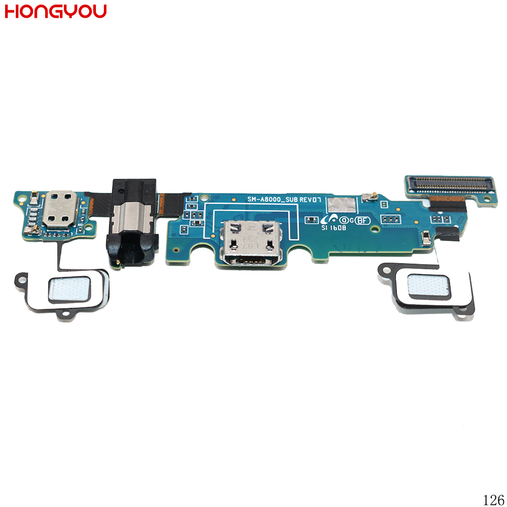 USB док-станция Джек разъем зарядки Порты и разъёмы наушников Audio Jack шлейф + микрофон для Samsung Galaxy A8 A8000 sm-8000