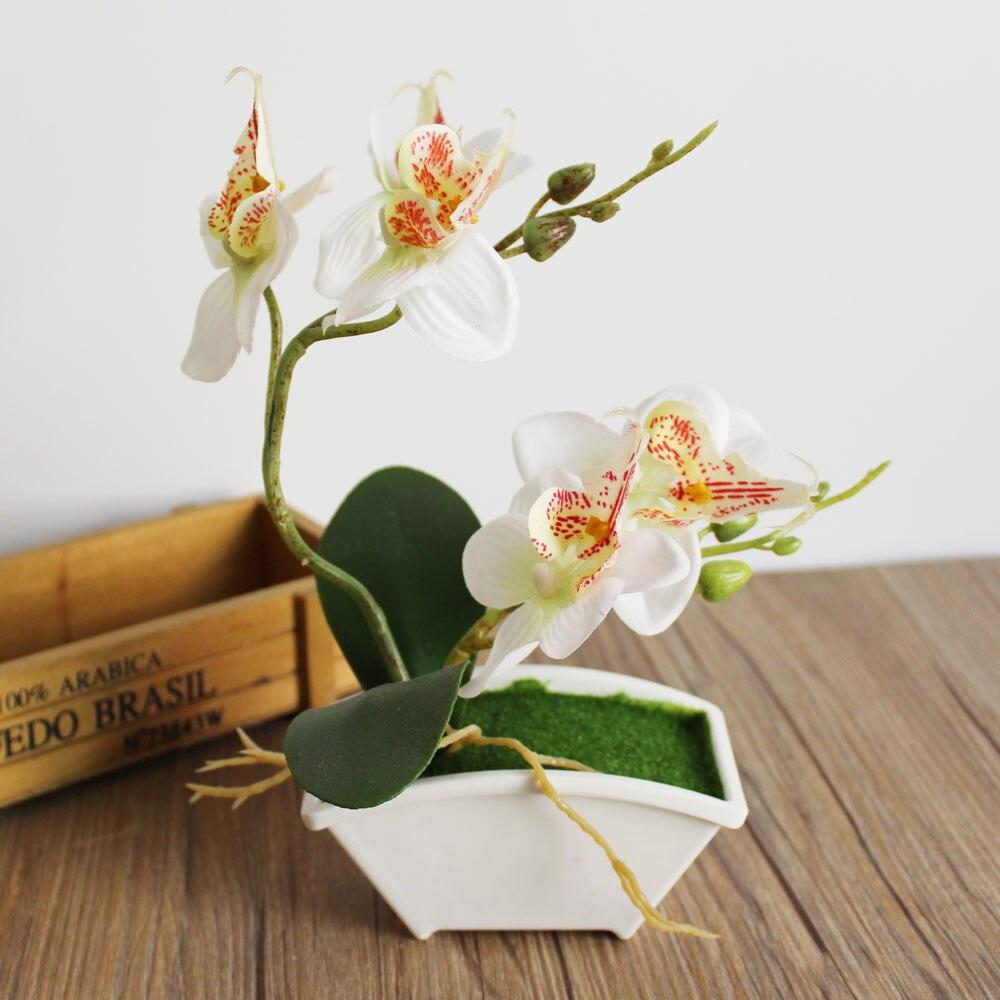 צמח קטן בונסאי מלאכותי פרח סחלבים פרח - חגים ומסיבות