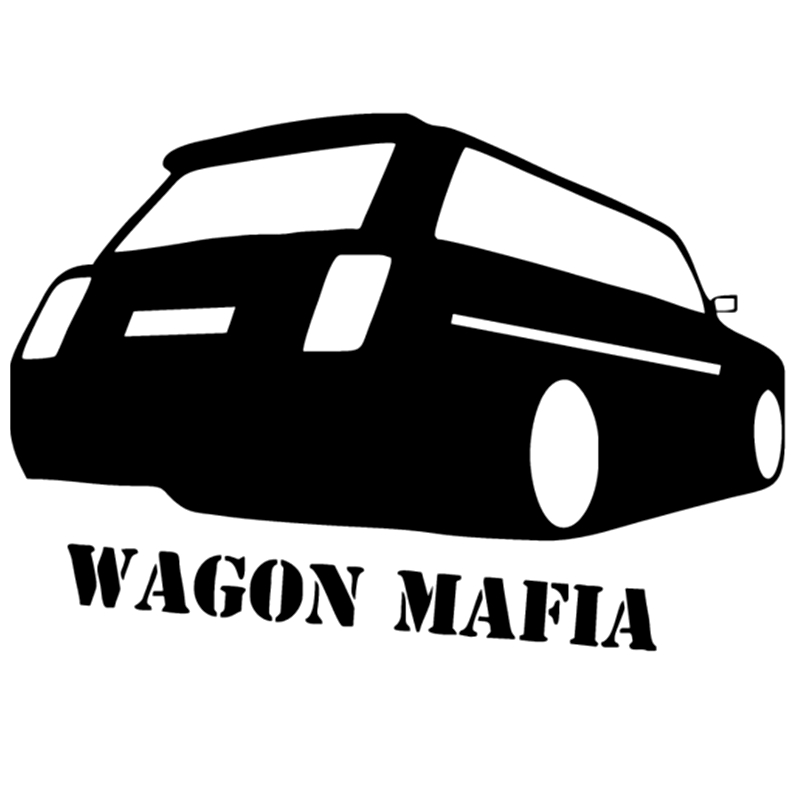 CK2379#20*14cm wagon mafia 2104 funny car sticker vinyl decal silver/black auto stickers for car bumper window car decoration image