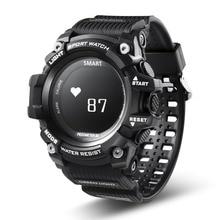 Смарт-часы Водонепроницаемый IP68 сердечного ритма Мониторы Bluetooth 4.0 Открытый Спорт часы для IOS Android ex16 обновленная версия