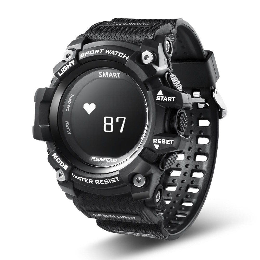 T1 Smart Watch Waterproof IP68 Heart Rate Monitor Bluetooth 4.0 Outdoor Sport Clock For IOS Android EX16 Upgraded version