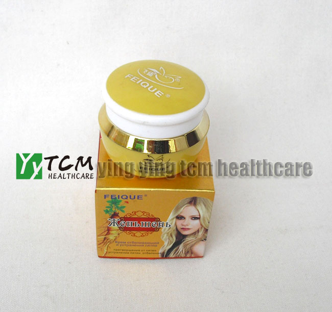 Ginseng skin cream whitening day care anti freckle 25g/pcs