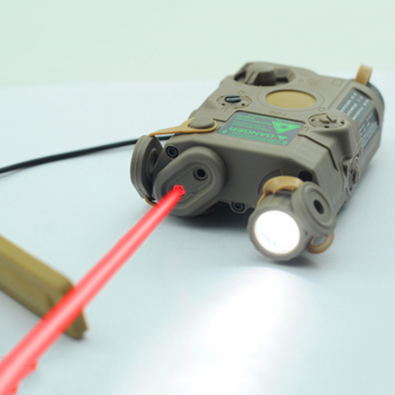 Tir Militaire Airsoft Gun Batterie Cas Fit 20mm Picatinny Ferroviaire Red Dot Laser et Blanc lampe de poche led