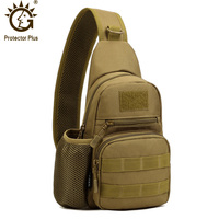 Outdoor Multipurpose Tactical Crossbody Chest Bag Molle System Sling Bag Small Shoulder Backpack With Side Water