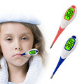 Adulto bebê Termômetro Digital Febre Função de Alerta Do Corpo Macio Cabeça Oral Alar Vermelho/Azul
