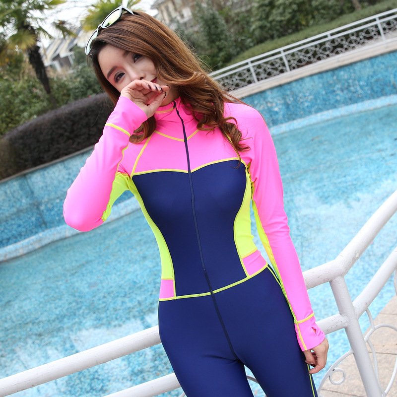 2017 new diving female long sleeve diving clothing jellyfish outdoor surfing suit boating drifting swimsuit speed dry Tops 1038