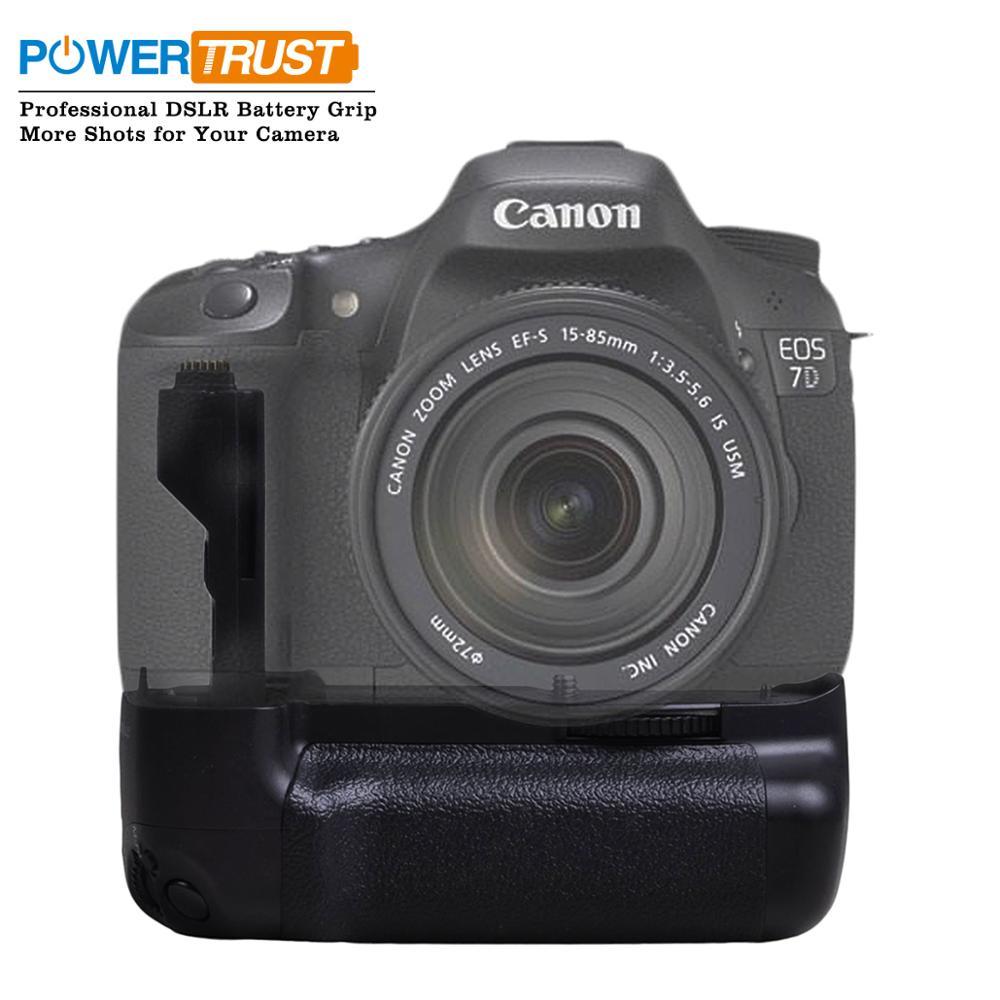 Powertrust poignée de batterie verticale BG-E7 pour Canon EOS 7D appareil photo reflex numérique comme BG-E7 poignée de batterie travail avec LP-E6 ou 6X AA-taille