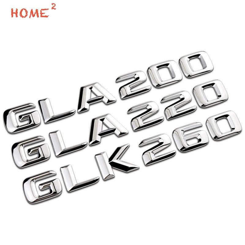 Metal Rear Car Sticker for Mercedes BENZ GLA200 GLA220