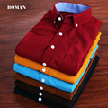 Free shipping Long sleeve Men's Shirt Brand Slim Corduroy Solid camisa masculina Shirts High Quality  Plus Size M-5XL 10 colors