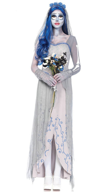 new arrival roleplay corpse bride party costume halloween costume for women halloween dead bride costumes lace
