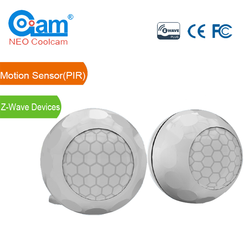 NEO Coolcam NAS-PD02Z Smart Home Z-Wave Plus PIR Motion Sensor Compatible with Z-wave 300 series and 500 series Home Automation neo coolcam smart home z wave plus 1ch eu light switch compatible with z wave 300 series and 500 series home automation