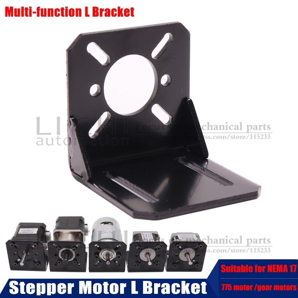 Multi-function Stepper Motor L Bracket for 775-150w motor/NEMA 17/Ratio Planetary Gearbox Step Motor For 3D PrinterMulti-function Stepper Motor L Bracket for 775-150w motor/NEMA 17/Ratio Planetary Gearbox Step Motor For 3D Printer