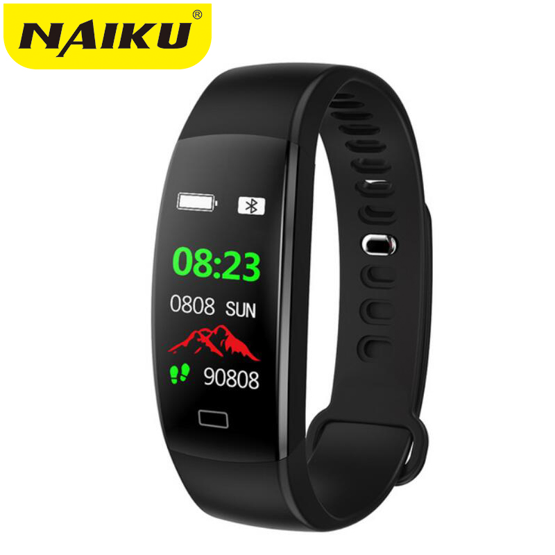 Smart Fitness Bracelet Men Color Screen IP68 Waterproof Blood Pressure Heart Rate Monitor Wristband For Android IOS Pk ID107