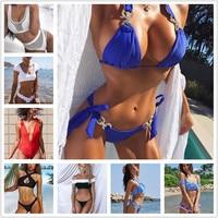 Bikini New 2018 Doubledeck Flouncing Swimsuit Plus Bathing Suit Sexy Women High Waist Swiming Suits Off