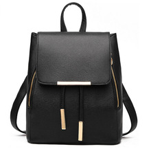 Mujer bolso pu cuero mochila moda mochila para adolescente alta capacidad mochila packsack sólida para las mujeres WM08Z Bolsos Mujer