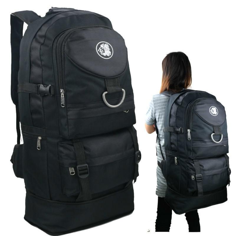 New Men Backpack 60L Large Capacity Out Door Multi Function Male Bag Waterproof Casual Backpacks Unisex Black Travel Backpacks