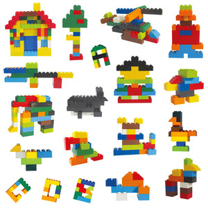 Image 4 - 250 1000 Pcs Colorful Building Blocks Bricks Kids Creative Block Toys Figures for Children Girls Boy Christmas Gifts