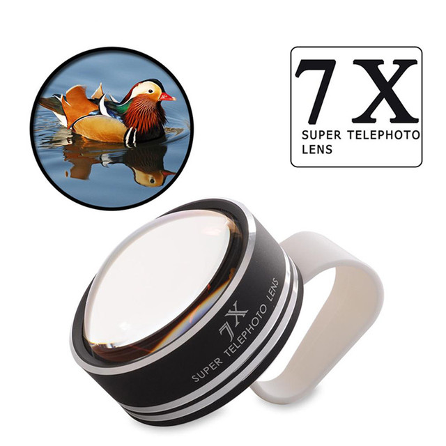 2017 Newest 7X Super Telephoto Lens Zoom Optical Lentes Microscope Fish eye Fisheye Lenses With Clips For iPhone Samsung Lenovo
