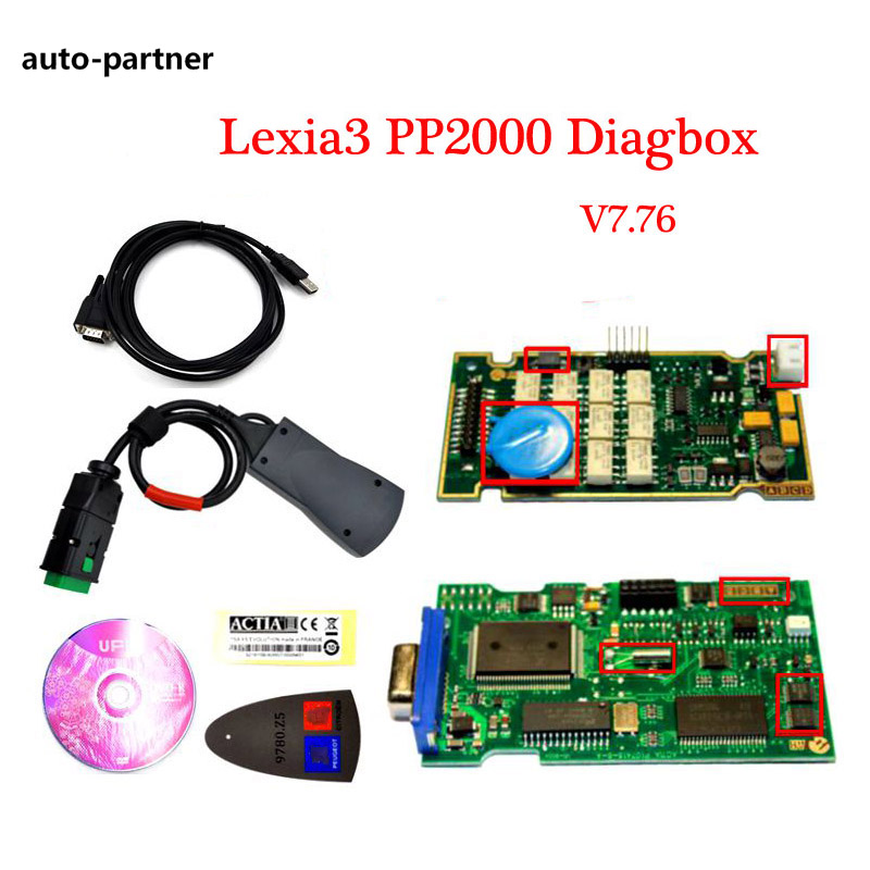 Prix pour 2017 Date V7.83 Lexia3 PP2000 Voiture Auto outil de diagnostic V48/V25 Lexia 3 Diagbox 7.82 Pour Citroen pour Peugeot