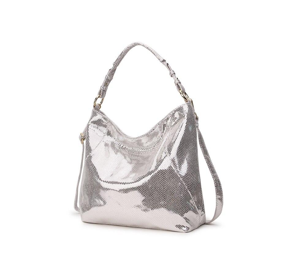 Women\'S Leather Handbag Hobo Messenger Bag For Women Gold Crossbody Shoulder Bag Female Tote Ladies Big Bag