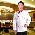 chef uniforms cooks kitchen high quality uk clothing men women restaurant chefs apparel chefwear Waiter Waitress Basic Coat DM#6