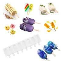 Silikon Gefrierschrank Eismaschinen Mold Für Party Popsicle Formen Ice Cube Tray DIY Mehrweg Eis Form Am Stiel Kuchen Gefrorene mould