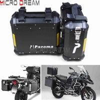 36L Motorcycle Side Cases Kit Luggage Cargo Bags Saddlebags Large Side Boxes For Triumph BMW R1200GS F800GS Adventure Universal
