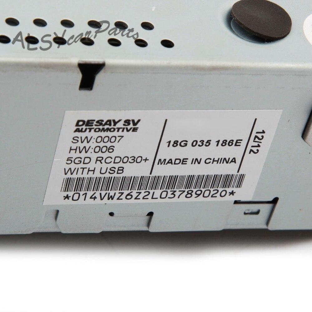 YIMIAOMO OEM 18G 035 186G RCD030 + Auto Radio MP3 Contribuenti AUX Ingresso USB Per Il VW Golf Jetta MK5 6 Tiguan Passat RCD 030 18G035186G - 3