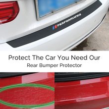 For BMW X3 f25 e83 X4 f26 X5 e70 e53 f15 f85 X6 New Performance Rubber Car Rear Bumper Trim Guard Plate Protector Sticker