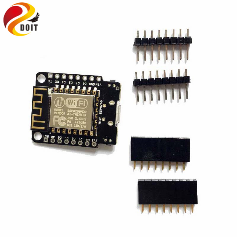 DOIT Mini NodeMCU ESP8266 WiFi Development Board based on ESP-12F 4M Bytes Flash ESP 12F Lua IoT DIY RC Free Shipping brand new wifi internet of things development board esp 12e module for nodemcu lua free shipping