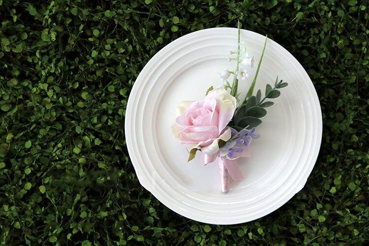pink wrist corsage boutonniere wedding  (24)