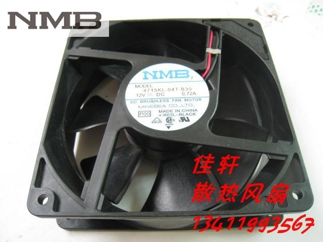 NMB 4715KL-04T-B30 cooling Fan DC 12V 0.72A 12038 120x120x38mm 12cm server inverter fan delta 12038 12v cooling fan afb1212ehe afb1212he afb1212hhe afb1212le afb1212she afb1212vhe afb1212me