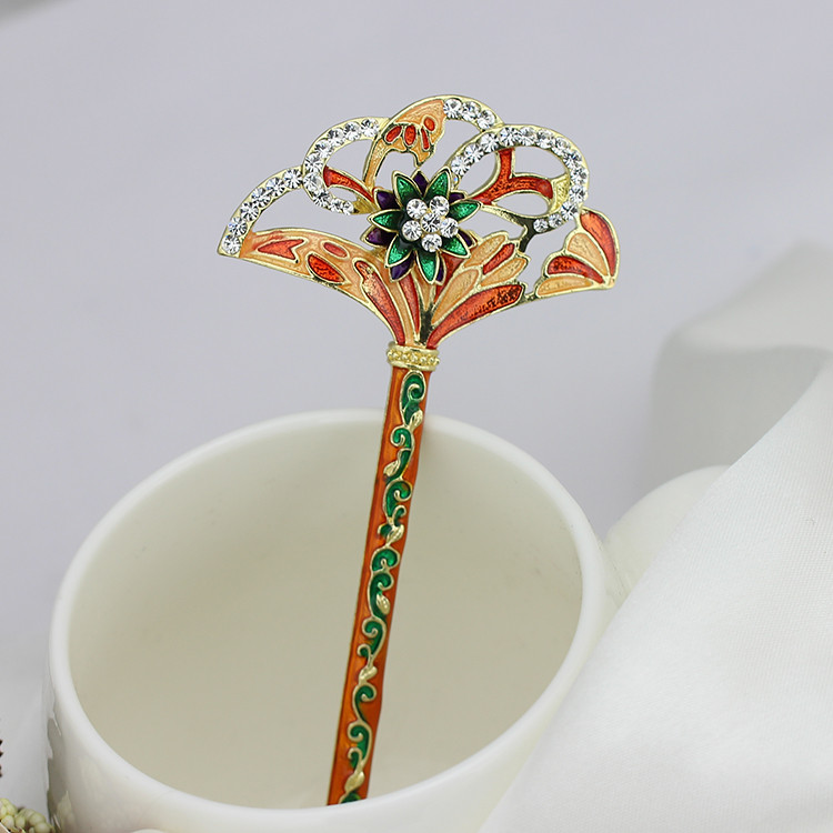 Korea Hair Ornaments Hairwear For Women or Bridal Ancient Classical Color Draw Hairpins5