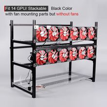 Stackable Computer Fame 14 Graphics Card GPU USB PCI-E Cable Computer Case BTC LTC ETC Coin Mining Rig Frame Server Chassis