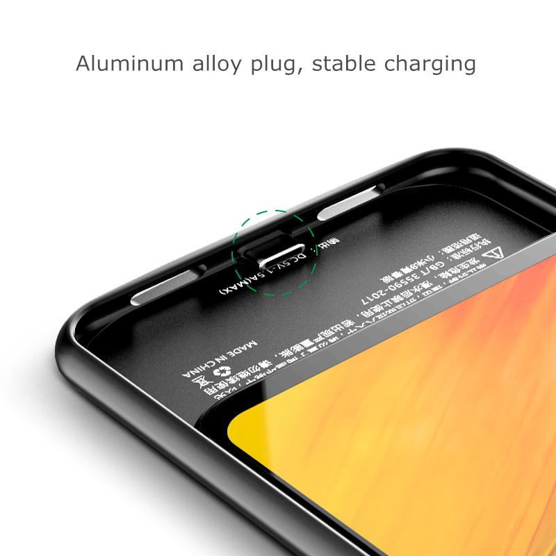 NTSPACE Portable Battery Charger Case For Xiaomi Mi 8 Lite 4700mAh Backup Power Bank Charger Case For Xiaomi 8 Lite Battery Case in Battery Charger Cases from Cellphones Telecommunications